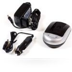 MicroBattery MBDAC1086 Auto/Indoor Black,Silver battery charger