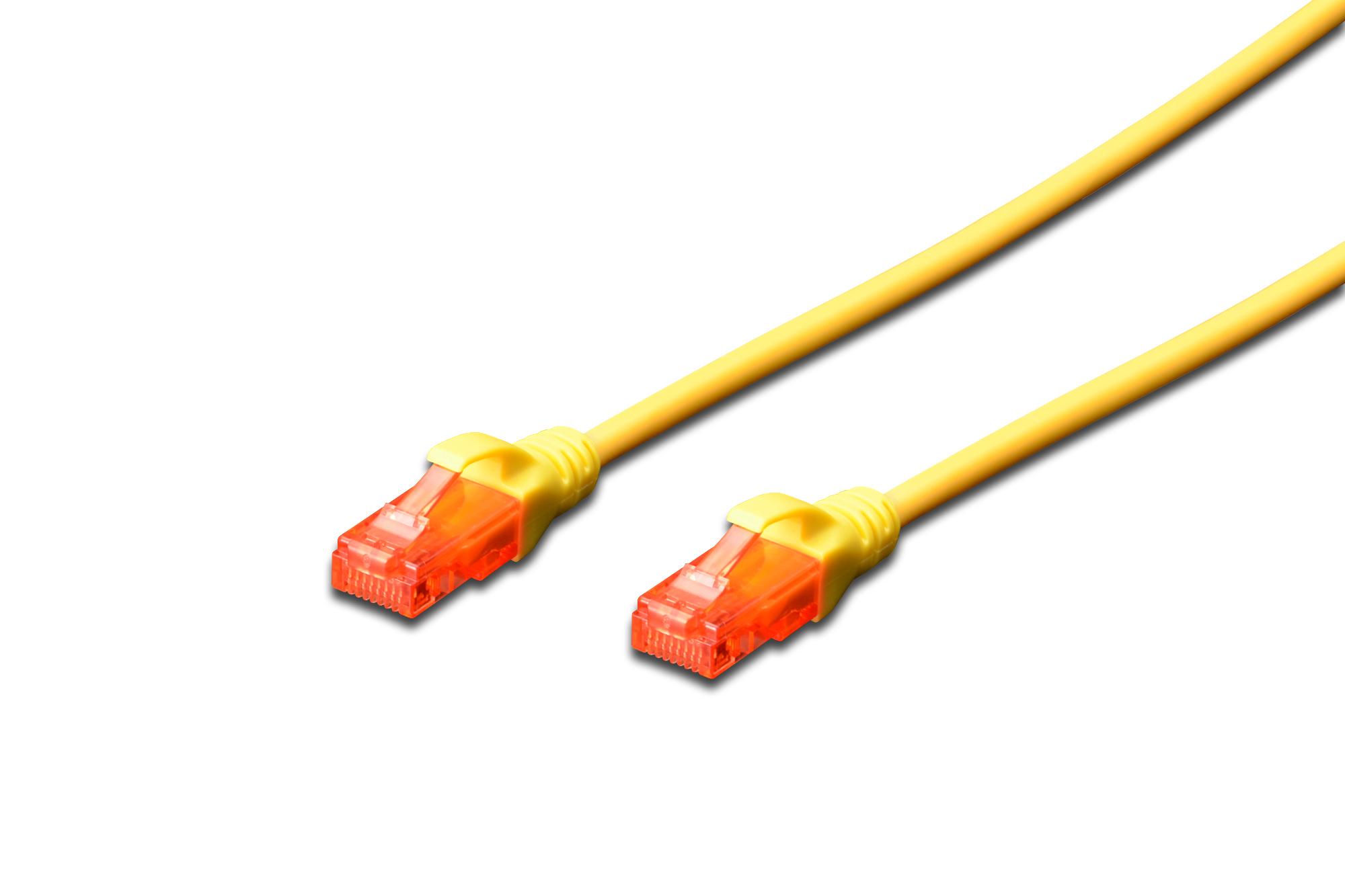 Digitus 1.5m Cat6 U/UTP networking cable U/UTP (UTP) Yellow
