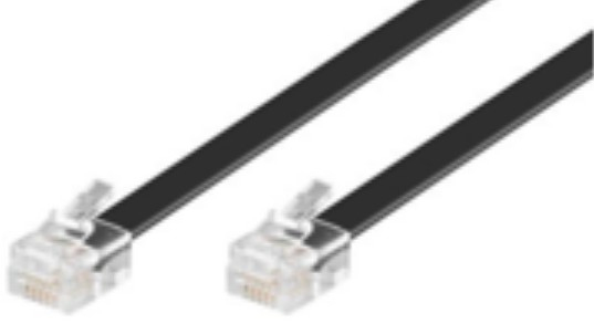 Microconnect MPK115B 15m Black telephony cable