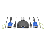 Tripp Lite 2-Port USB/VGA Cable KVM Switch with Audio, Cables and USB Peripheral Sharing