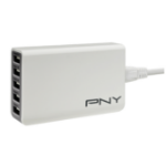 PNY P-AC-5UF-WEU01-RB Indoor White mobile device charger