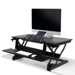 "Ergotron WorkFit-TLE 76.2 cm (30"") Fixed flat panel floor stand Black"