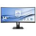"Philips B Line 345B1C/00 pantalla para PC 86,4 cm (34"") 3440 x 1440 Pixeles WQHD LCD Negro"
