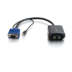 C2G 11in Trulink 2-Port UXGA + 3.5mm Monitor Splitter Cable Black