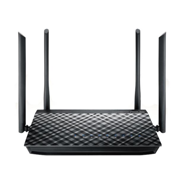 ASUS RT-AC57U draadloze router Dual-band (2.4 GHz / 5 GHz) Gigabit Ethernet Zwart
