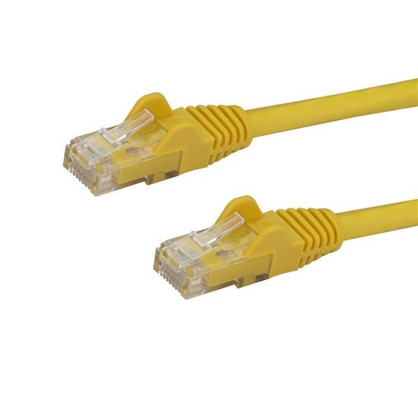 StarTech.com Cable de Red de 5m Amarillo Cat6 UTP Ethernet Gigabit RJ45 sin Enganches