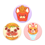 PopSockets PopMinis Pup-A-Licious Mobile phone/Smartphone Multicolor