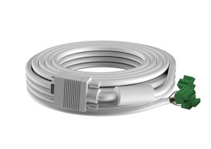 Vision TECHCONNECT SPARE 15M VGA CABLE High-Grade White Installation Cable. A moulded connector on one end,