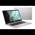"ASUS Chromebook C423NA-EC0161 notebook Silver 35.6 cm (14"") 1920 x 1080 pixels Touchscreen Intel® Celeron® N3350 8 GB LPDDR4-SDRAM 32 GB eMMC"