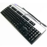 HP 434820-052 PS/2 AZERTY French Black, Silver keyboard