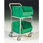 FSMISC 2 BIN STORAGE TROLLEY GREEN 32129191