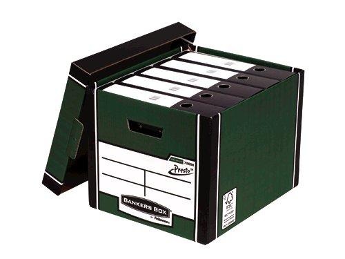 Bankers Box Fellowes Premium Presto Tall Box Green PK10