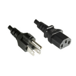 Microconnect PE110430 3m Power plug type B C13 coupler Black power cable