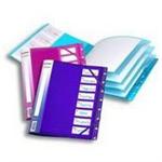 Snopake 8-Part Filelastic - Electra Assorted folder