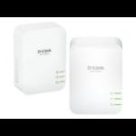 D-Link DHP-P601AV 1000Mbit/s Ethernet LAN Wit 2stuk(s) PowerLine-netwerkadapter