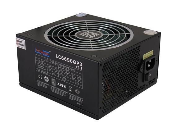 Power Supply - Netzteil ATX 20-/24pin Lc-power 650w/gp3/140mm