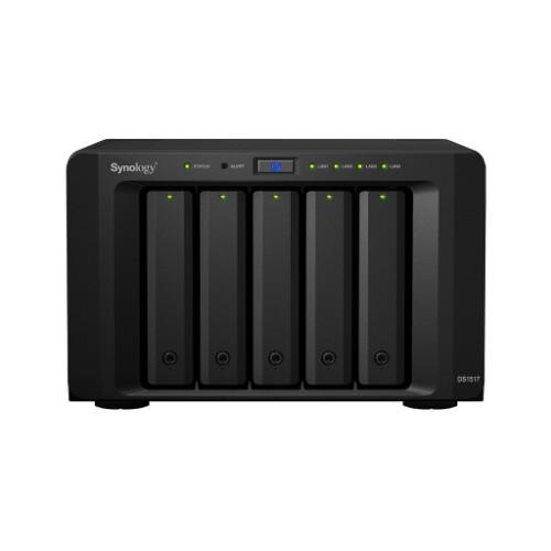 Synology DS1517 5 Bays (Disk Less) NAS Desktop Ethernet LAN Black Storage Server