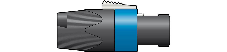 AV Link 763.417UK wire connector NL4FX Black,Blue