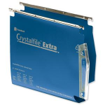 Rexel Crystalfile Extra `275` Lateral File 50mm Blue (25)