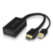 ALOGIC HDMI Male to DisplayPort Female Adapter with USB Cable for Power - BLACK