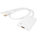 Urban Factory Adapter mini display port to HDMI with Audio for Mac (USB), White
