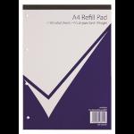 NUCO Value A4 Refill Pad 320 Page Feint Ruled & Margin PK5