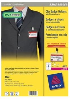 Avery 4822 identity badge/badge holder PVC 25 pc(s)
