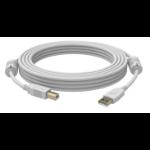 Vision USB 2.0, 1m USB Kabel USB A USB B Weiß