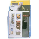 Deflecto LIT HOLDER A4 3 TIER CLR 77301