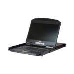 "Aten CL3116NX rack console 47 cm (18.5"") 1366 x 768 pixels Metal, Plastic Black 1U"
