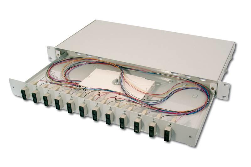 Digitus DN-96321/9 SC 1pc(s) Grey fiber optic adapter