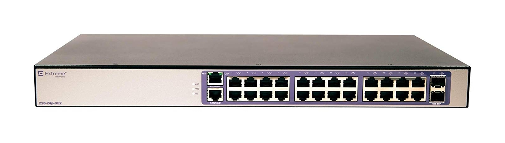 Extreme networks 210-24P-GE2 Managed L2 Gigabit Ethernet (10/100/1000) Bronze,Purple Power over Ethe