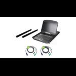 """iogear GCL1908WKITU rack console 18.5"""" 1366 x 768 pixels Metal, Plastic Black 1U"""