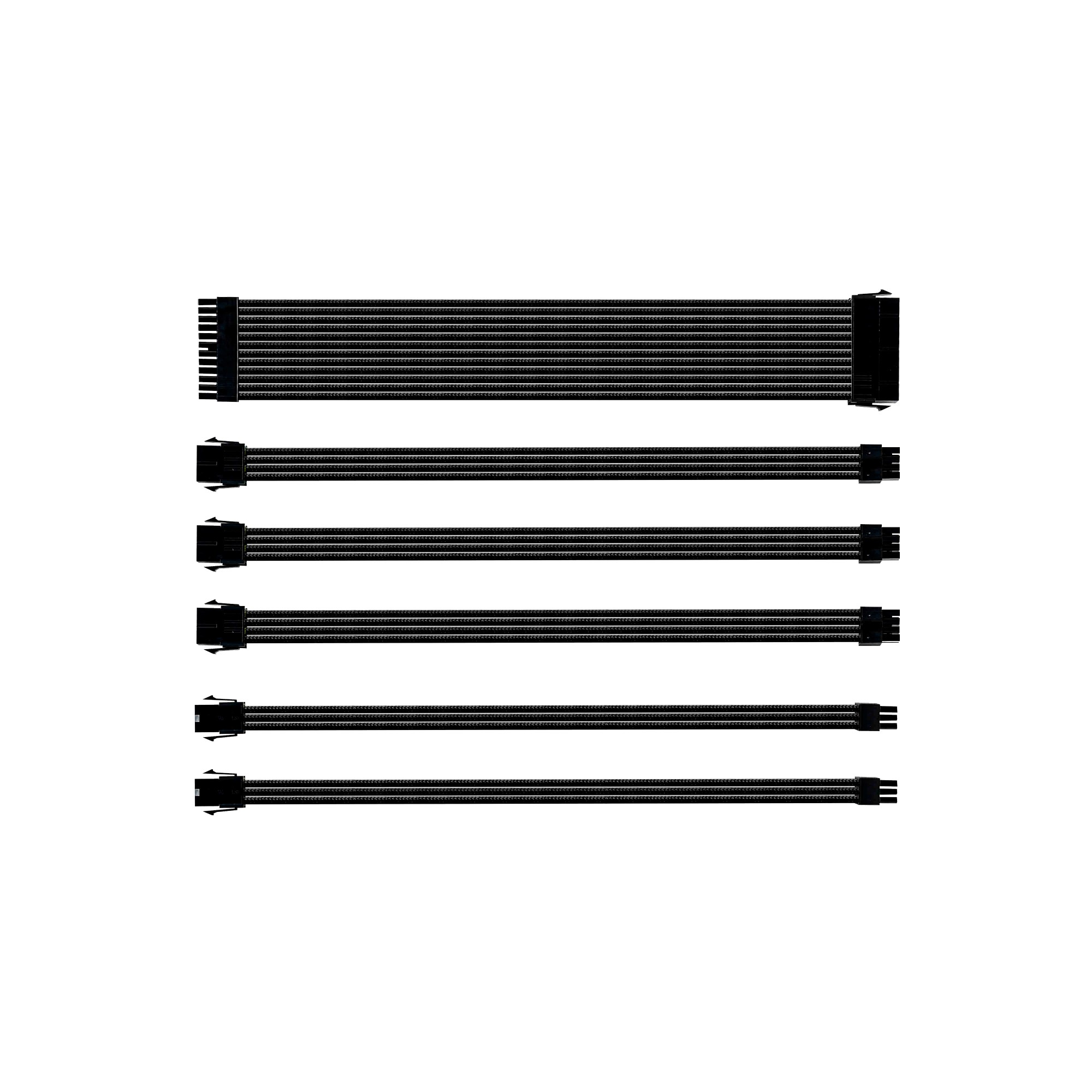 Extension Cable Kit - Sleeved - Black