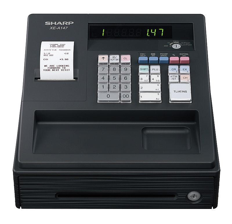 Sharp XEA-147BK cash register LED
