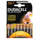 Duracell AAA Plus Batteries PK8