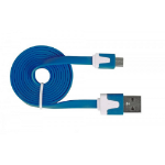 Urban Factory Cable Flat USB to Micro USB - Blue 1m