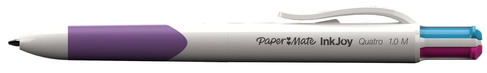 Papermate Inkjoy Quatro Clip-on retractable ballpoint pen Medium Blue,Green,Purple,Red 12pc(s)