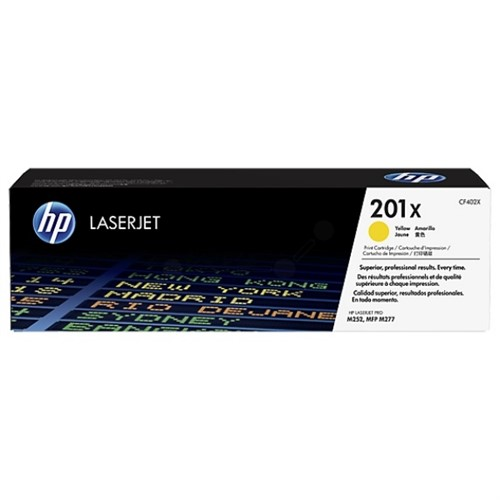 HP CF402X 201X Yellow LaserJet Toner Cartridge 2,300 pages