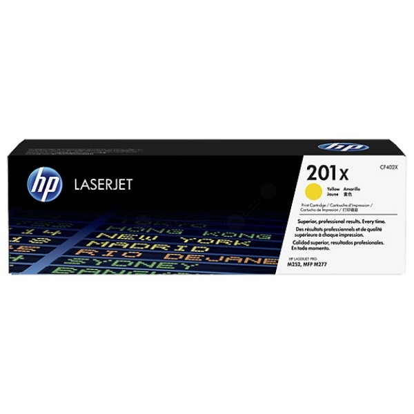 HP CF402X (201X) Toner yellow, 2.3K pages
