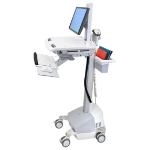 Ergotron StyleView EMR Cart with LCD Pivot, SLA Powered Vlakke paneel Multimedia cart Grijs, Wit