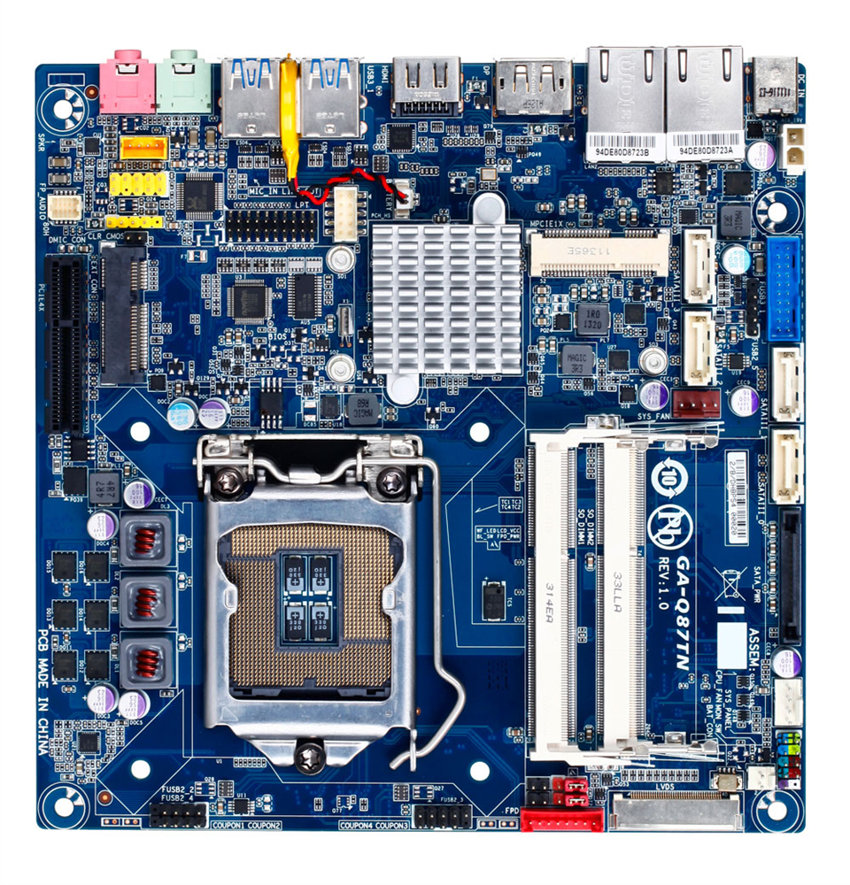 Gigabyte GA-Q87TN Intel Q87 Mini ITX motherboard
