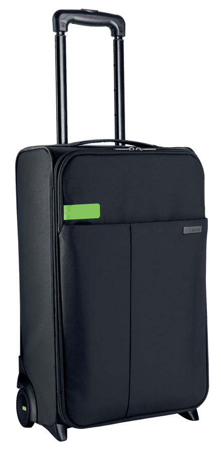 2WHEEL CARRY-ON TROLLEY COMPLETE BLACK