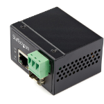 StarTech.com Industrial Fiber to Ethernet Media Converter - 100Mbps SFP to RJ45/Cat6 - Singlemode/Multimode Optical Fiber to Copper Network - 12-56V DC - IP-30/ -40 to +75C