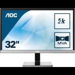 AOC Pro-line U3277PWQU PC Flachbildschirm 80 cm (31.5 Zoll) 3840 x 2160 Pixel 4K Ultra HD LCD Schwarz