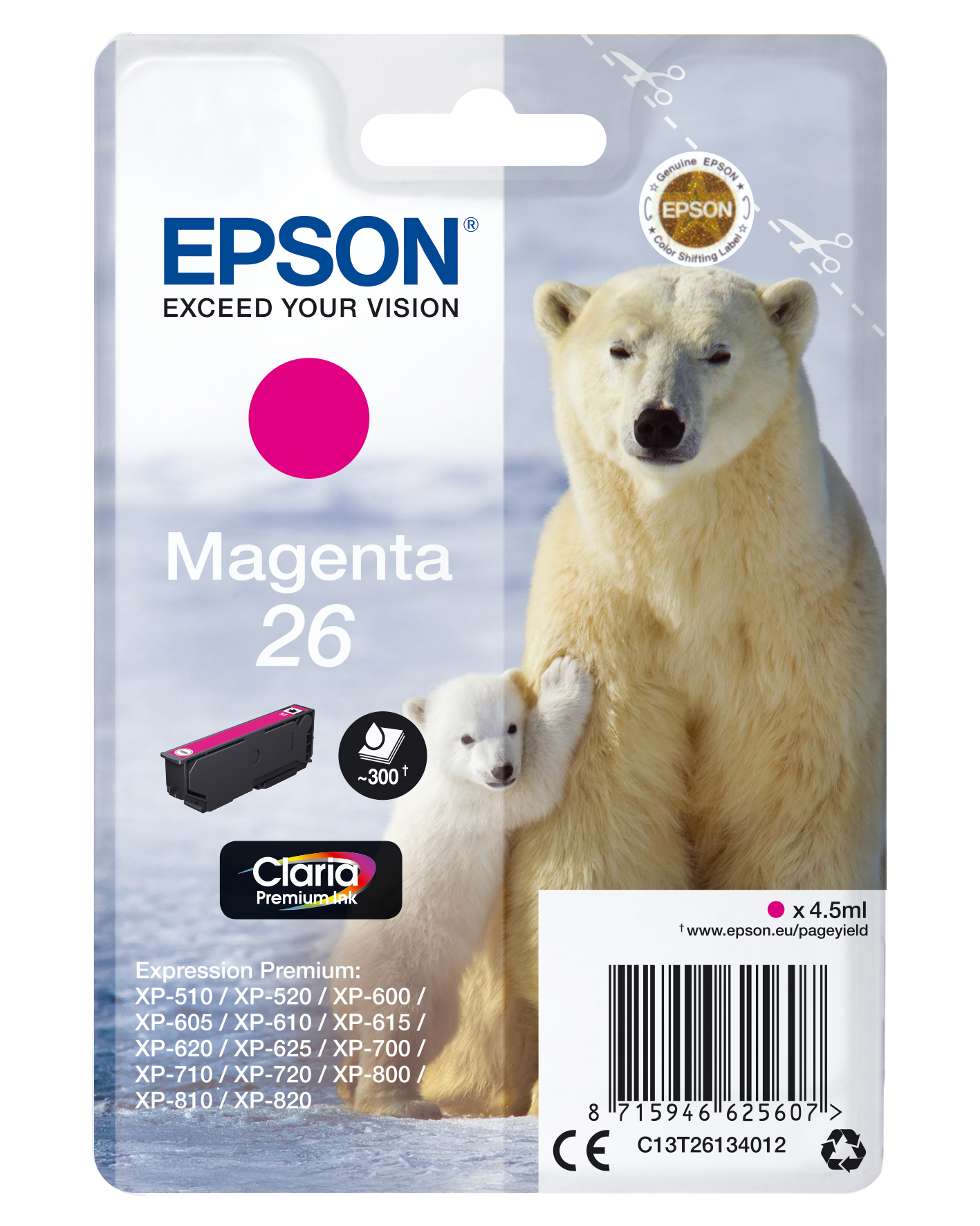Epson Polar bear Cartucho 26 magenta