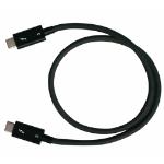 QNAP CAB-TBT305M-40G-LINTES 0.5m 40Gbit/s Black Thunderbolt cable