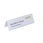 Durable for table place name holder Badge Inserts 61/122 x 210 mm 20pc(s) White Rectangle non-adhesive label
