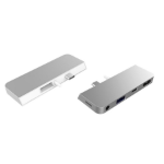 HYPER HD310A notebook dock/port replicator Docking Silver