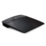 Linksys E1200 draadloze router Fast Ethernet Zwart